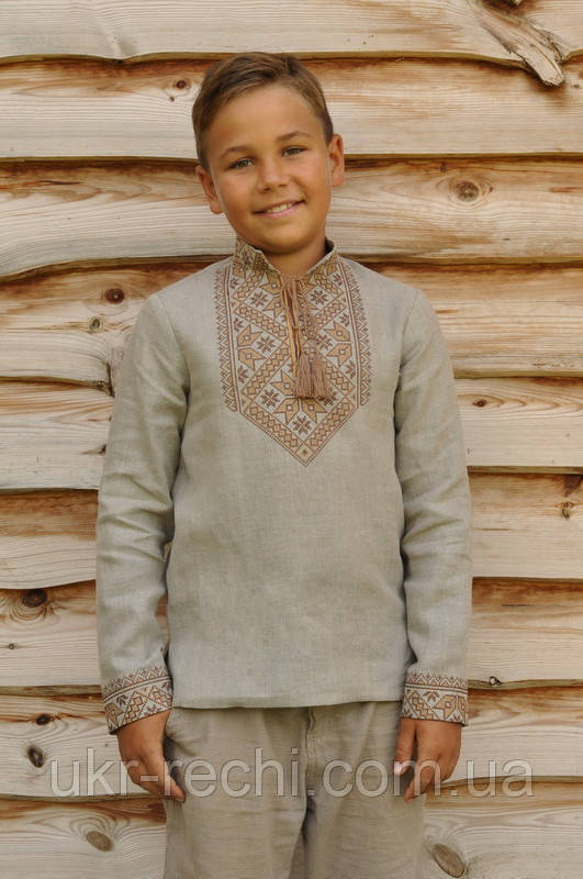 Вишита сорочка для хлопчика льон - Інтернет-магазин
