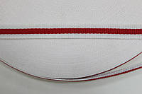 ТЖ 10мм репс (50м) белый+красный , фото 1