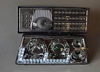 Передние+задние хромированные фары на ВАЗ 2108 №2