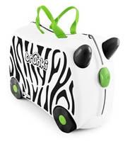 Чемоданчик детский дорожный на колесах Zimba  зебра