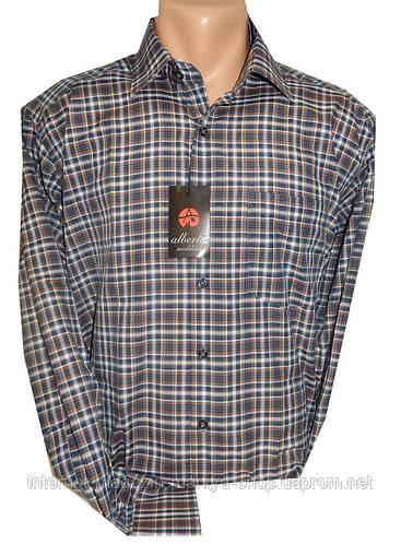 Рубашка мужская длинный рукав клетка
