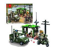 Конструктор Brick Военная серия Военная база: 285 деталей, 7 фигурок