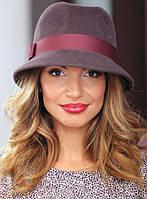 Женская шляпа котелок, фетр шерсть