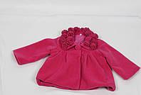 Кошемировое пальто размеры 86 см-104 см размеры: 1-4 лет  цвет малиновый