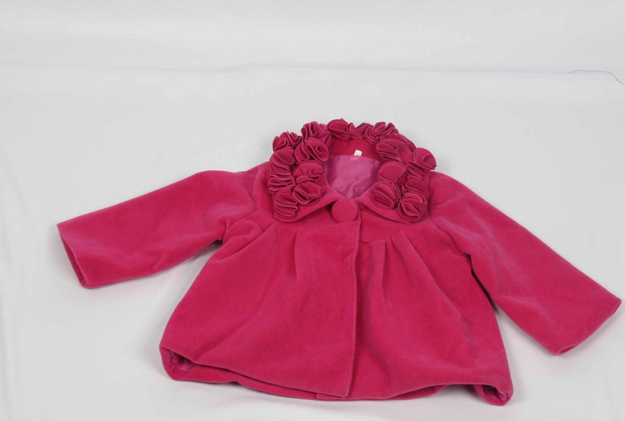 Кошемировое пальто размеры 86 см-104 см размеры: 1-4 лет  цвет малиновый, фото 1