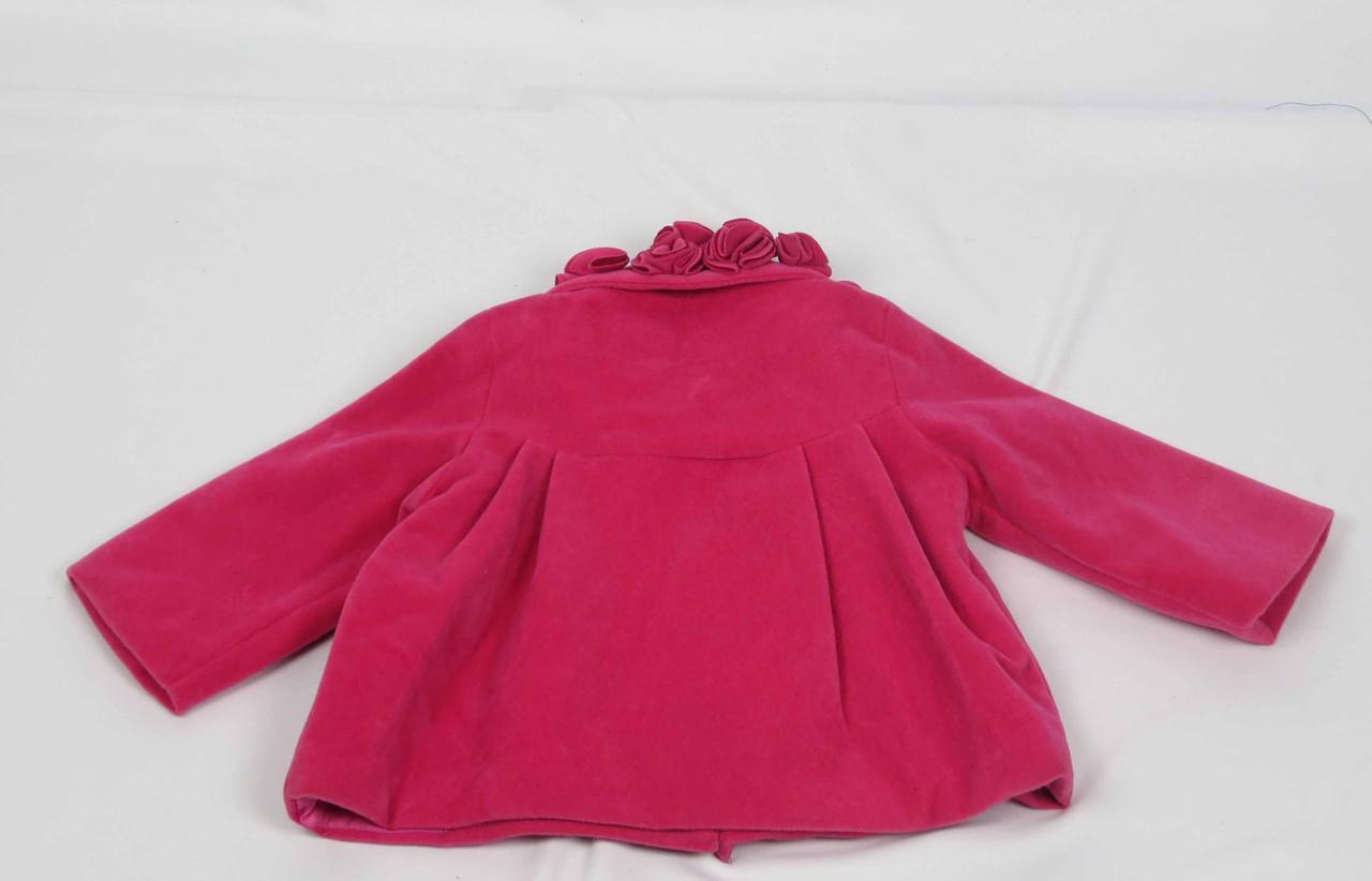 Кошемировое пальто размеры 86 см-104 см размеры: 1-4 лет  цвет малиновый, фото 2
