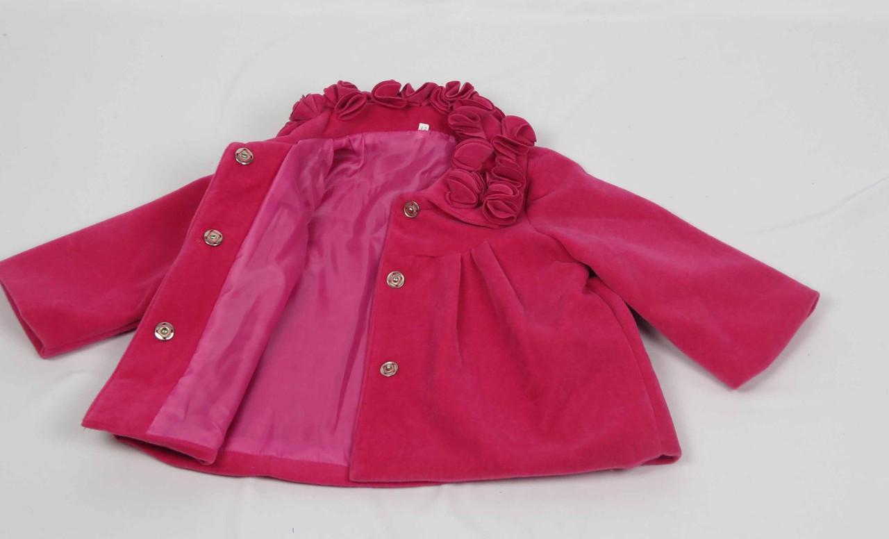 Кошемировое пальто размеры 86 см-104 см размеры: 1-4 лет  цвет малиновый, фото 3