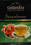 Чай зеленый GOLDEN ERA с клубникой упаковка 100г (40шт*1ящ)