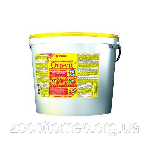 Корм для всх рыб   TROPICAL Ovo-vit 21L /4kg  (хлопья) с выс.содерж. яичного желтка для всех видов рыб