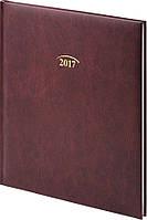 Еженедельник 2017 Brunnen Бюро Miradur Бордовый