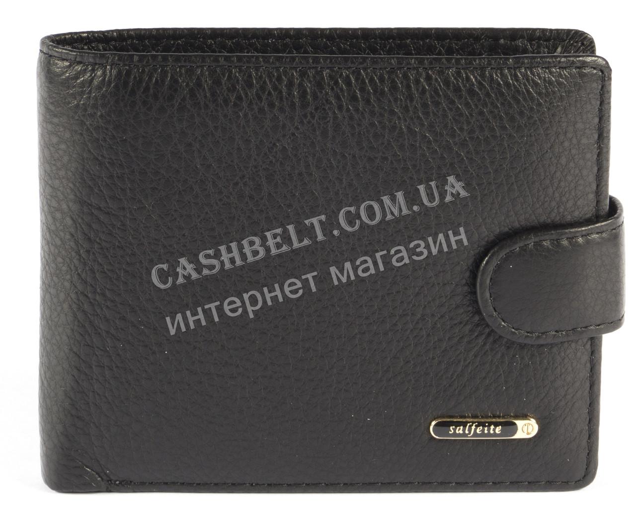 Стильний класичний гаманець з натуральної якісної шкіри SALFEITE art. 12243SL-N черн