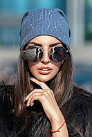 Женская вязаная шапка Shine