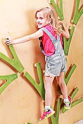 Детский скалодром Веточки на каркасе