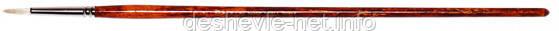 Щетина круглая, Grace 2023R, № 5, длинная ручка, кисть KOLOS