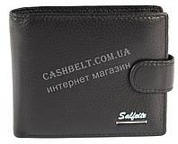 Cтильный классический кошелек с натуральной качественной кожи  SALFEITE art. 2105SL черн син лого