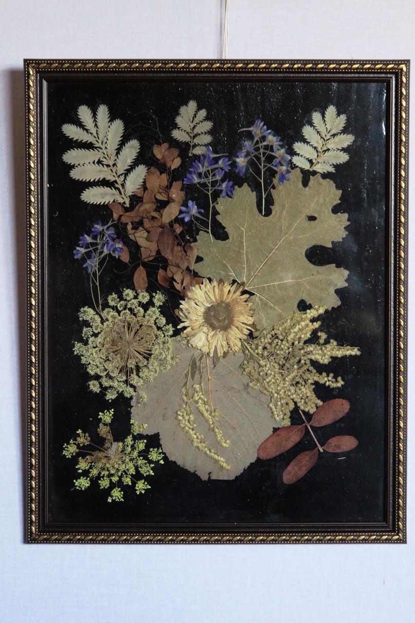 """Композиция  сухие цветы и листья """"Квіти"""""""