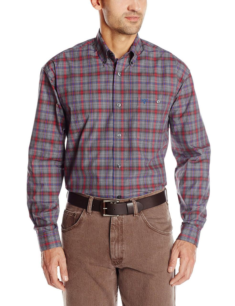 Рубашка Wrangler 20X, M, Red/Black/Blue, MJ2604M