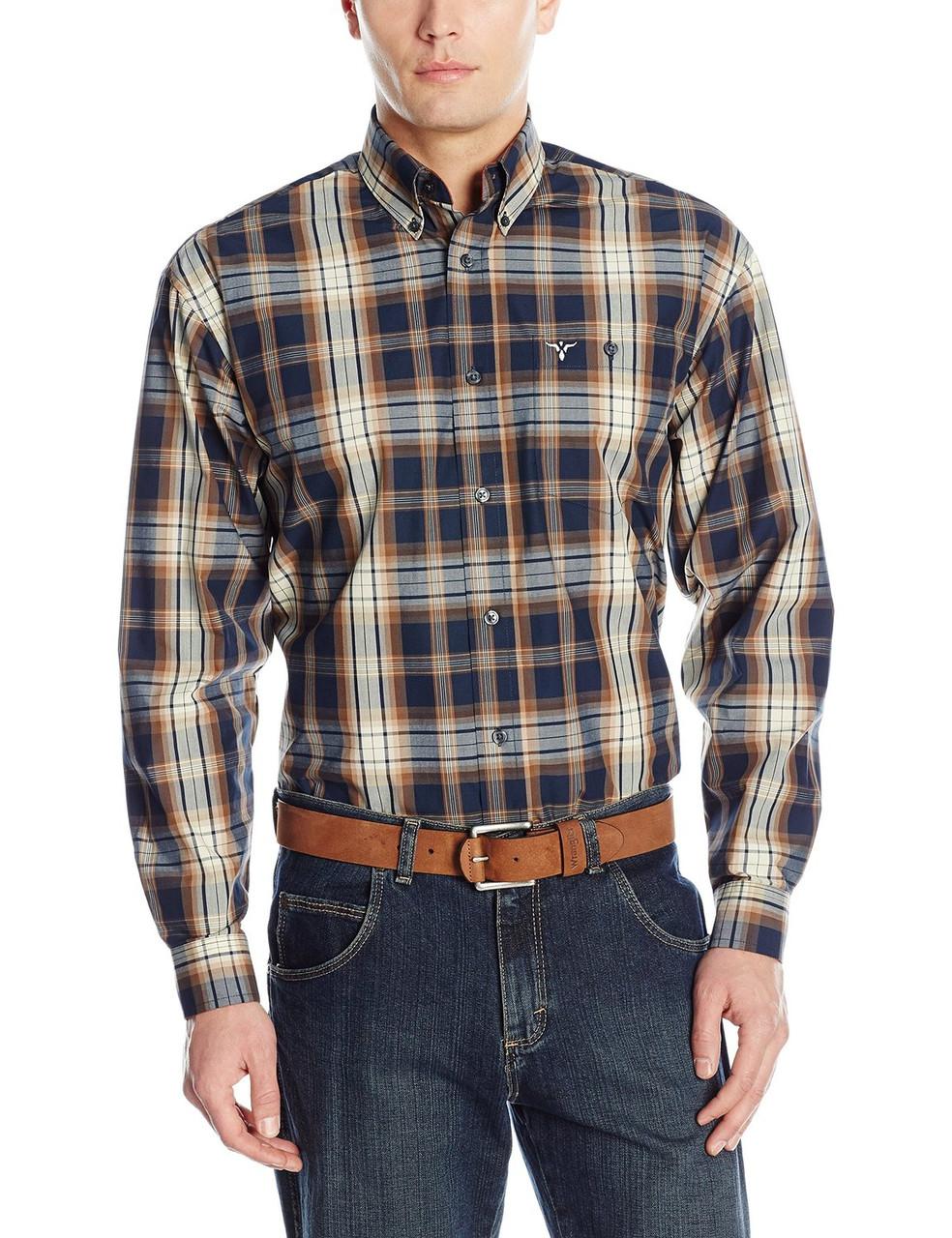 Рубашка Wrangler 20X, S, Teal/Black/Grey, MJ2600M