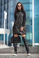 Женское тёплое стёганое платье Chanel style