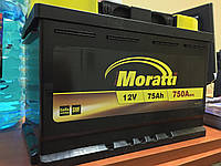Аккумулятор Moratti 75 Ah 750 A, фото 1