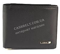 Удобный мужской кошелек с зажимом для купюр из натуральной качественной кожи  SALFEITE art. 2142SL черн