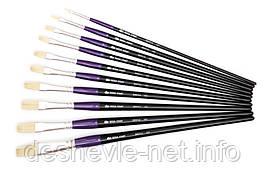 Щетина плоская, 401, № 3, длинная ручка, кисть ROSA START
