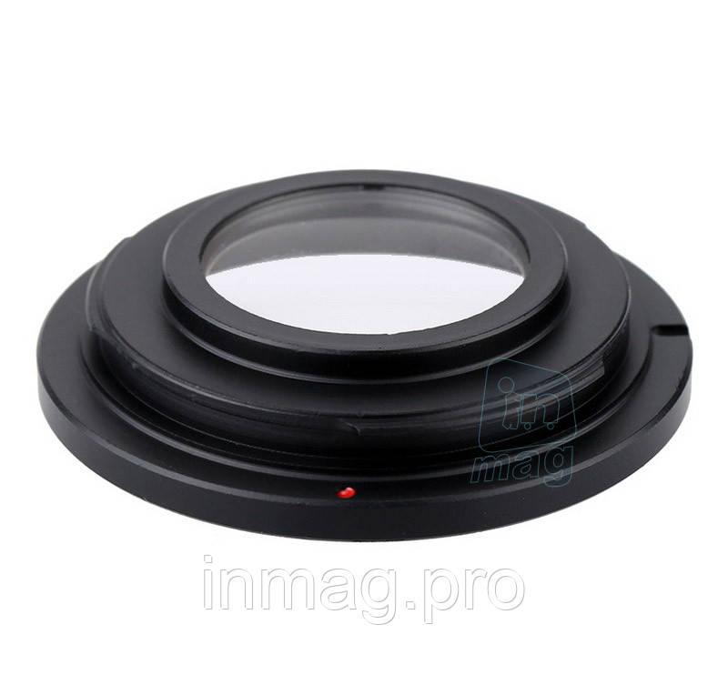 Переходное кольцо M42 - Nikon AI с линзой, black.