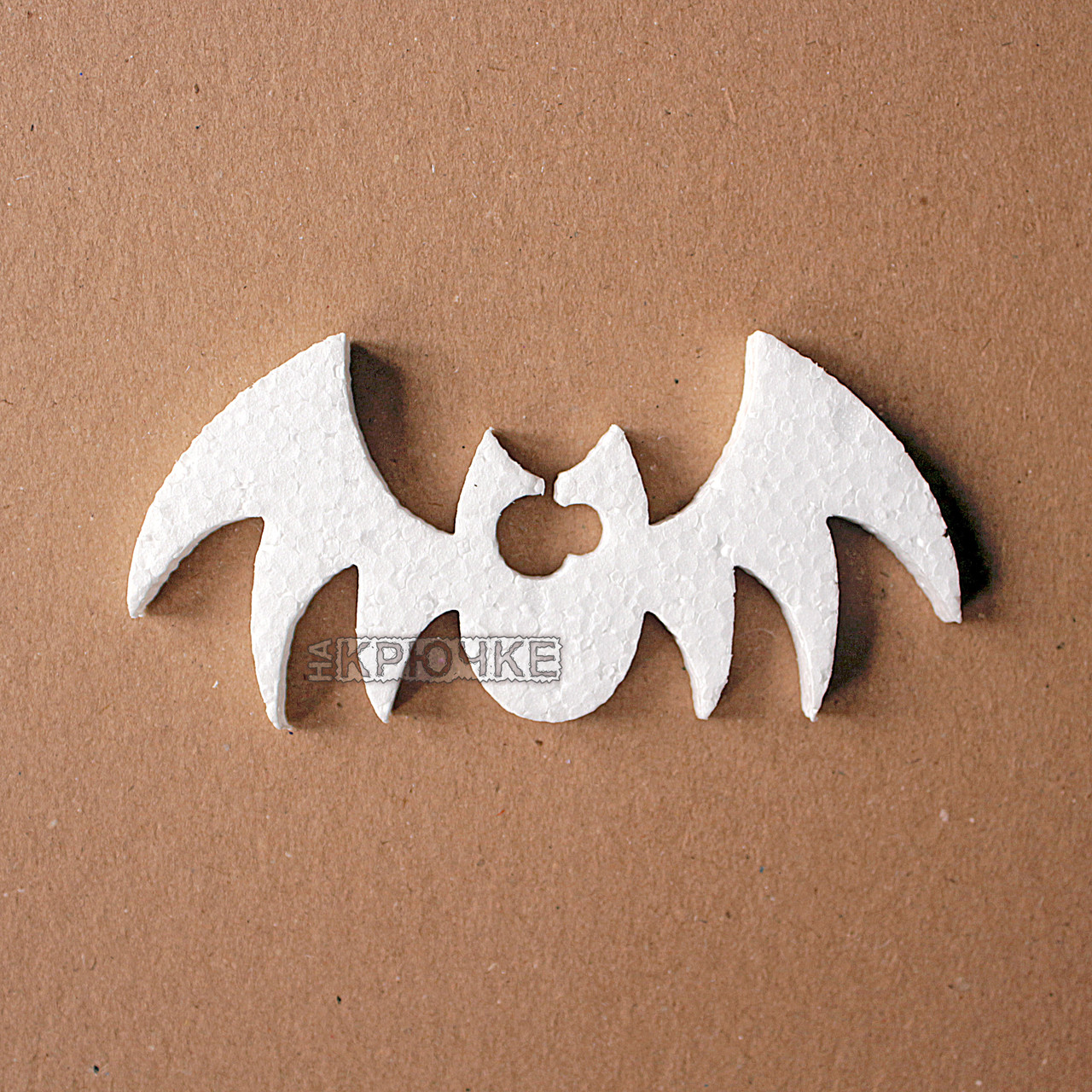 Декор на Halloween из пенопласта летучая мышь, 10 см