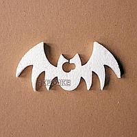 Декор на Halloween из пенопласта для декупажа летучая мышь, 10 см