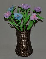 Букет Традисканция из фоамирана. Оригинальный подарок на 8-е марта