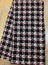 маленький женский текстильный шарф в клетку