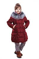 Красивое зимнее детское пальто с мехом чернобурки Малика  нью вери (Nui Very) в Украине по низким ценам