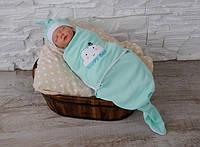 """Безразмерная пеленка кокон на липучках для новорожденных """"Каспер"""", """"Happy Day"""""""