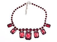 """Ожерелье""""Моника"""" шейное женское украшение с массивными камнями"""
