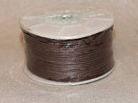 Шнур вощёный тёмно-коричневый 3315 1 мм х 1 м