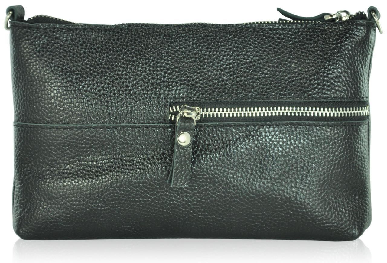 1db9a6169ab8 Женский кожаный клатч Busta черный - Интернет магазин