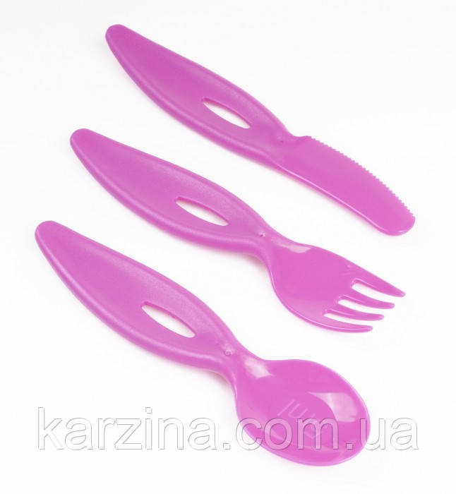 Набор для кормления вилка, ложка, нож Canpol Babies 31/414 (Розовые)
