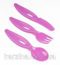 Набор вилка, ложка, нож Canpol Babies 31/414 (Розовые)