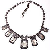 """Ожерелье""""Туман""""  шейное женское украшение с крупными камнями"""