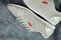 Кроссовки женские белые лаковые