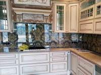 Скинали кухонный фартук из закаленного стекла 6 мм.