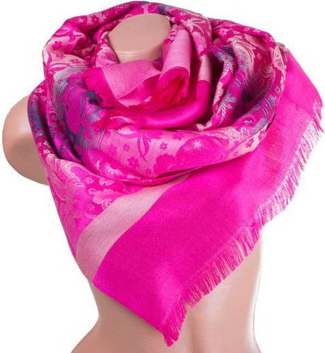 Обворожительный женский двусторонний палантин из пашмины 186 на 71 см ETERNO ES0406-8-42 розовый