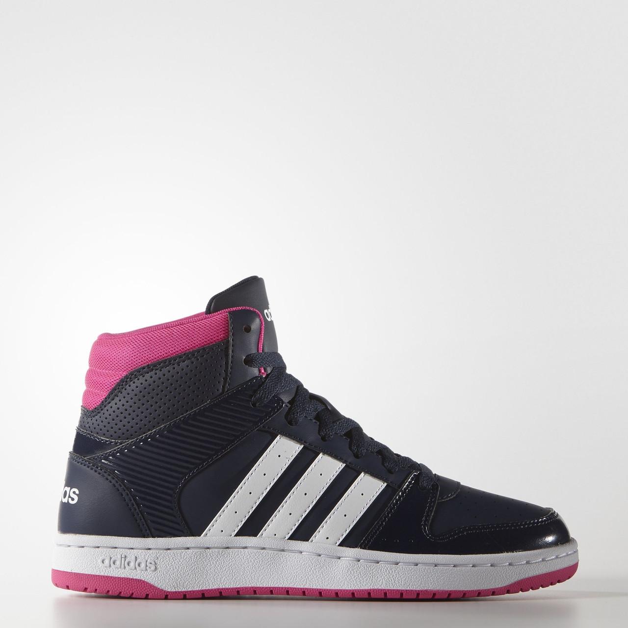 Кроссовки женские высокие Adidas VS HOOPSTER MID W AW4763
