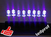 50шт  5мм светодиод ультрафиолетовый