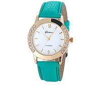 Роскошные часы бренда Geneva (бирюзовые)