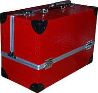 Чемодан металлический раздвижной красный