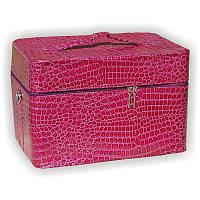 Чемодан для лампы розовый лаковый