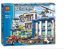 """Конструктор Bela 10424 """"Полицейский участок"""" (аналог Lego City 60047), 890 дет."""