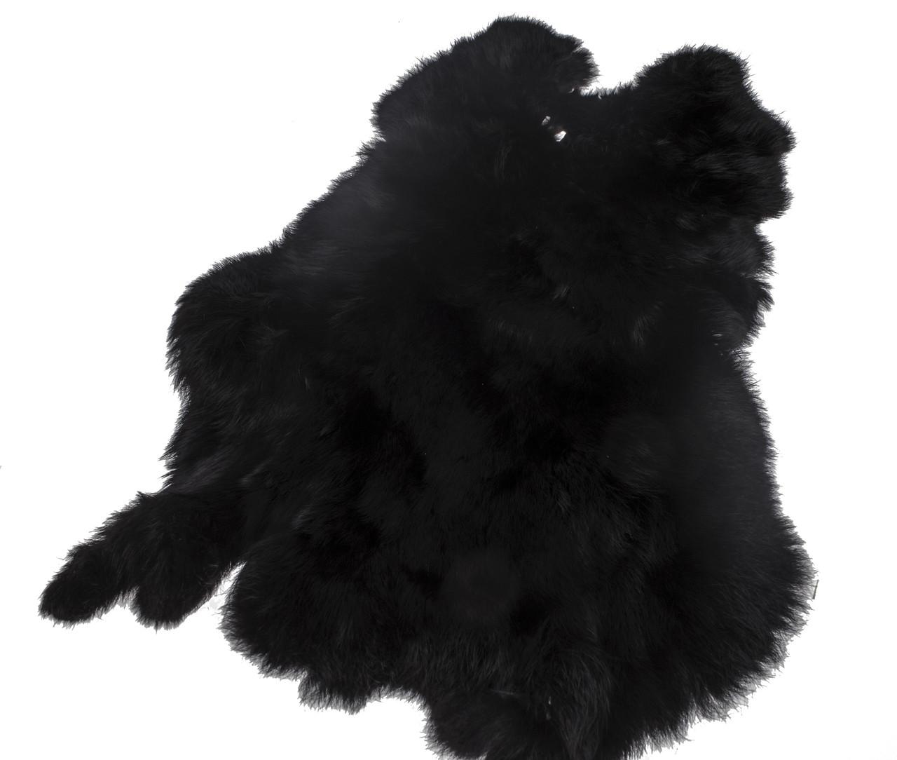 Шкурки кролика черные