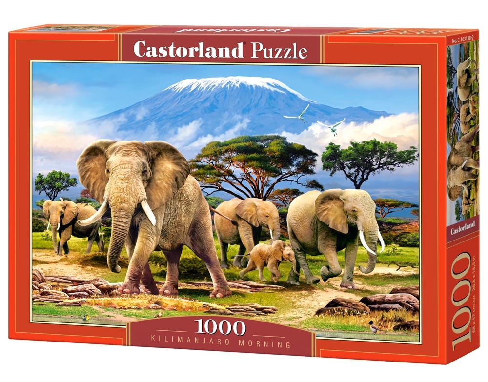 """Пазлы Castorland C-103188 """"Утром Килиманджаро"""" на 1000 элементов (C-103188)"""
